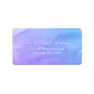 Purple and Teal Watercolor Label