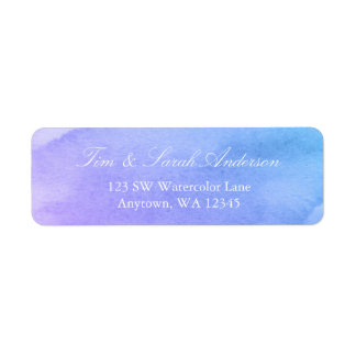 Purple and Teal Watercolor Return Address Label