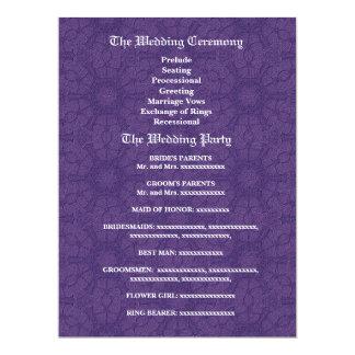 Purple and Teal Wedding Program V1C Card