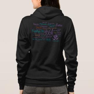 Purple and Teal Yoga World Cloud Yoga Poses Hoodie
