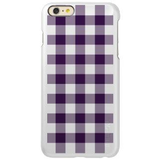Purple and Transparent Gingham Incipio Feather® Shine iPhone 6 Plus Case