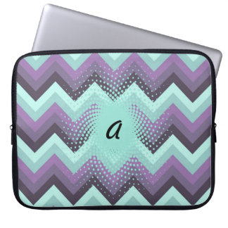 Purple and Turquoise Chevrons Laptop Sleeve