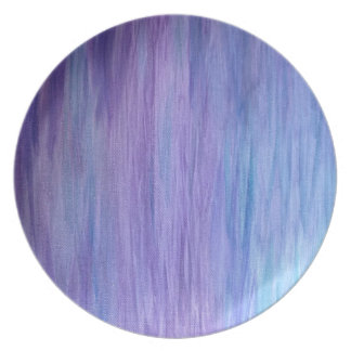 Purple and Turquoise Fusion Melamine Plate