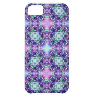 Purple and Turquoise Hippy Fractal Pattern iPhone 5C Case