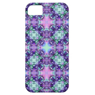 Purple and Turquoise Hippy Fractal Pattern iPhone SE/5/5s Case
