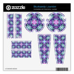 Purple and Turquoise Hippy Fractal Pattern Skullcandy Lowrider Skins