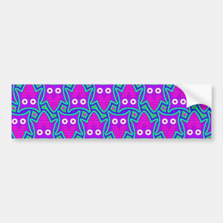 Purple and Turquoise Psychedelic Owl Pattern Bumper Sticker