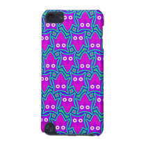Purple and Turquoise Psychedelic Owl Pattern iPod Touch (5th Generation) Cover