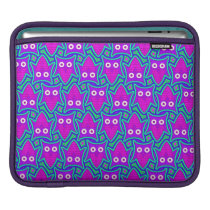 Purple and Turquoise Psychedelic Owl Pattern Sleeve For iPads