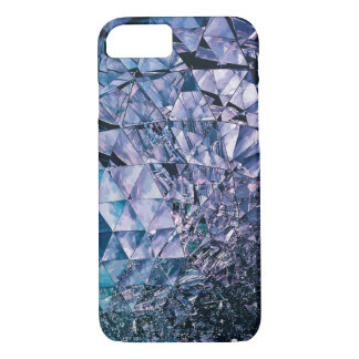 Purple and turquoise, TRIANGLE and reflections iPhone 7 Case