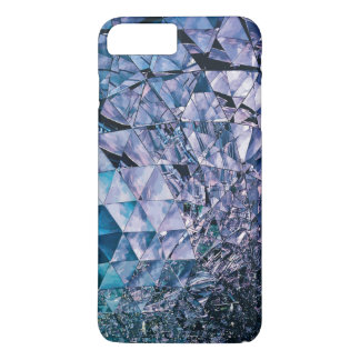 Purple and turquoise, TRIANGLE and reflections iPhone 7 Plus Case