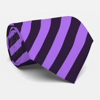 Purple and Violet Diagonal Striped Tie