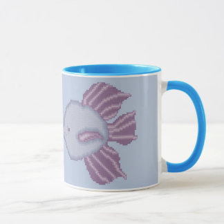 Purple and Violet Kissing Fish Mug