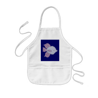 Purple and Violet Tropical Fish Kid's Apron