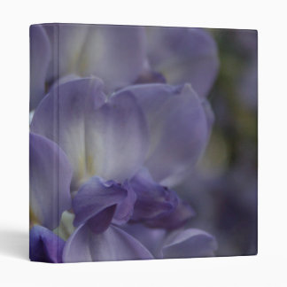 Purple and Violet Wisteria Blossom 3 Ring Binders