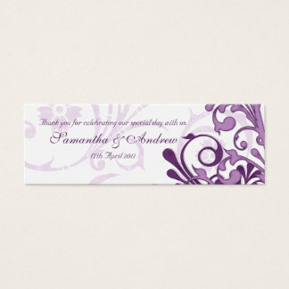 Purple and White Abstract Floral Favour Tags