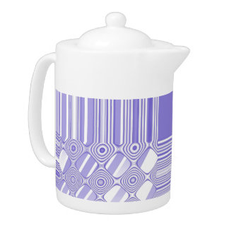 Purple and White Abstract Pattern