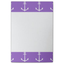 Purple and White Anchors Pattern 1 Post-it Notes