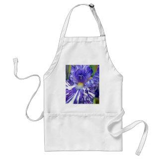 Purple and White Bearded Iris Adult Apron