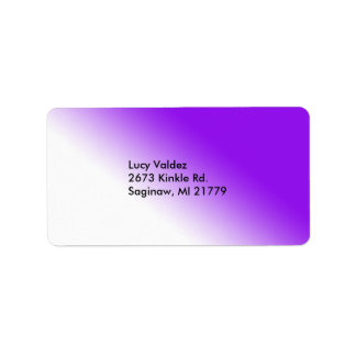 Purple and white blended label