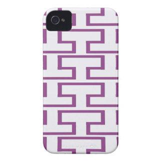 Purple and White Bricks iPhone 4 Cover