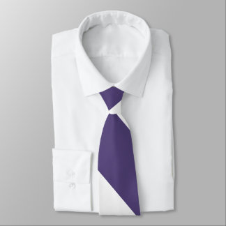 Purple and White Broad University Stripe Tie