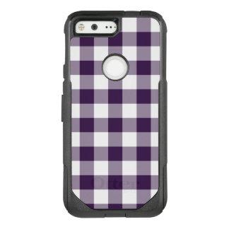 Purple and White Buffalo Plaid OtterBox Commuter Google Pixel Case