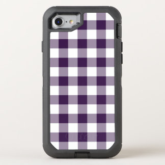 Purple and White Buffalo Plaid OtterBox Defender iPhone 7 Case