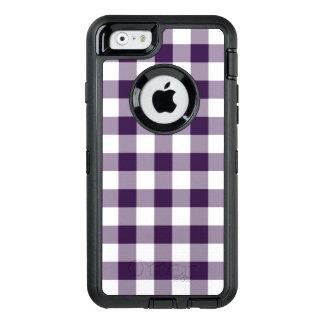 Purple and White Buffalo Plaid OtterBox iPhone 6/6s Case