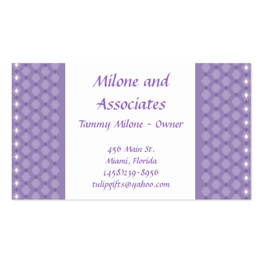 Purple and White Business Card
