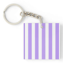 Purple and white candy stripes keychain