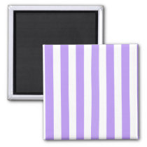 Purple and white candy stripes magnet