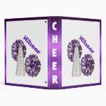 Purple and white Cheerleader Binder