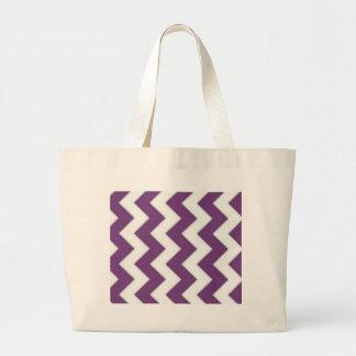 purple and white chevron bag