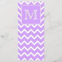 Purple and White Chevron Design. Custom Monogram.