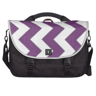 purple and white chevron bag for laptop