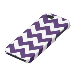 Purple and White Chevron Pattern Cases For iPhone 5