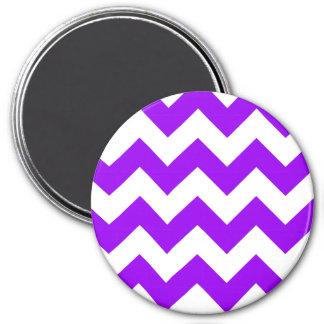 Purple and White Chevron Pattern Magnet