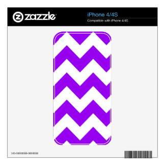 Purple and White Chevron Pattern Skin For The iPhone 4