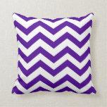 Purple and White Chevron Pillows
