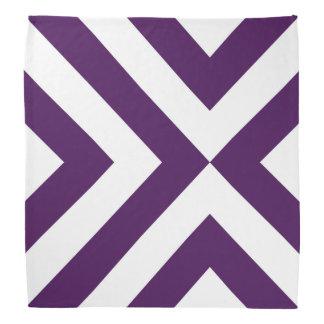 Purple and White Chevrons Bandana