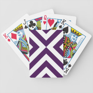 Purple and White Chevrons Bicycle Playing Cards
