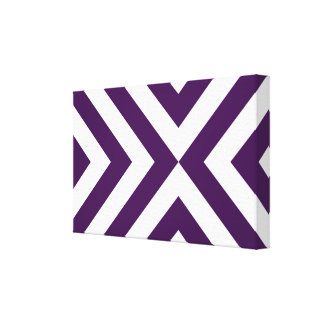 Purple and White Chevrons Canvas Print