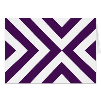 Purple and White Chevrons Card