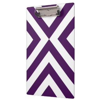 Purple and White Chevrons Clipboard