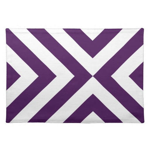 Purple and White Chevrons Cloth Placemat