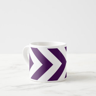 Purple and White Chevrons Espresso Cup