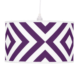 Purple and White Chevrons Hanging Lamp
