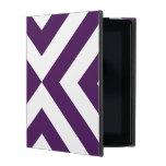 Purple and White Chevrons iPad Folio Case