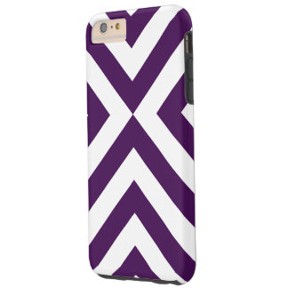 Purple and White Chevrons iPhone 6 Plus Tough Case